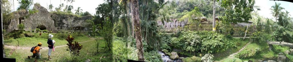 グヌン・カウィのパノラマ